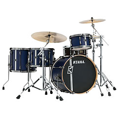 "Tama Superstar Custom 20"" Satin Blue Vertical Stripe « Batería"