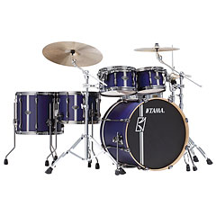 "Tama Superstar Custom 22"" Satin Blue Vertical Stripe « Batería"