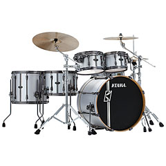 "Tama Superstar Custom 22"" Satin Silver Vertical Stripe « Batería"