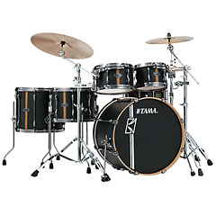 "Tama Superstar Custom 22"" Flat Black Vertical Stripe « Drum Kit"