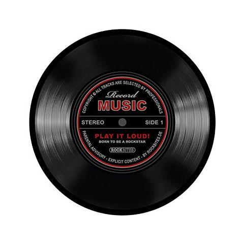 Alfombrilla para ratón Rockbites Mousepad Schallplatte schwarz