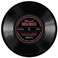 Rockbites Mousepad Schallplatte schwarz