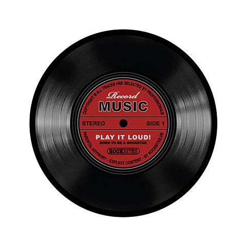 Tapis de souris Rockbites Mousepad Schallplatte Rot