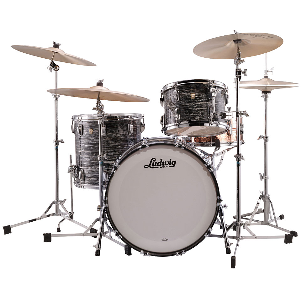 05f5d96f0b8e Drum Kit Ludwig Classic Maple Fab Four Vintage Black Oyster ...