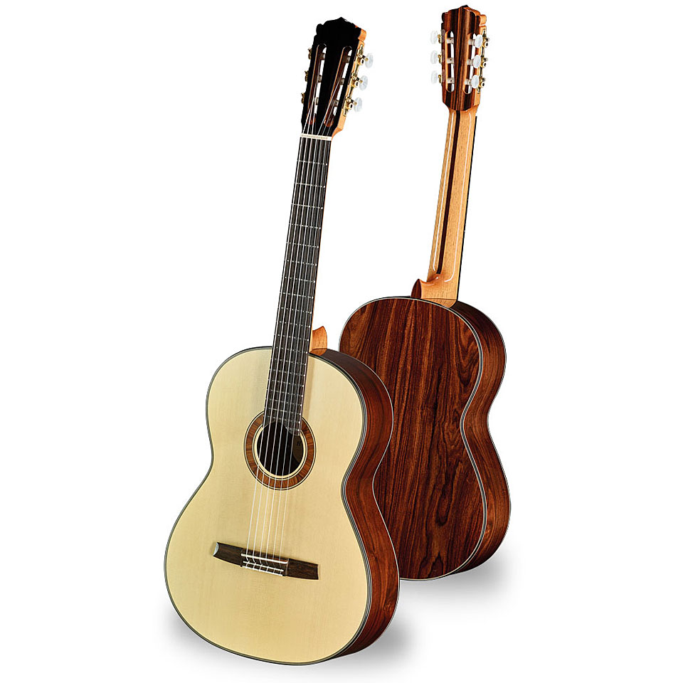 vollmassive Konzertgitarre inkl Hanika 54PC Gigbag