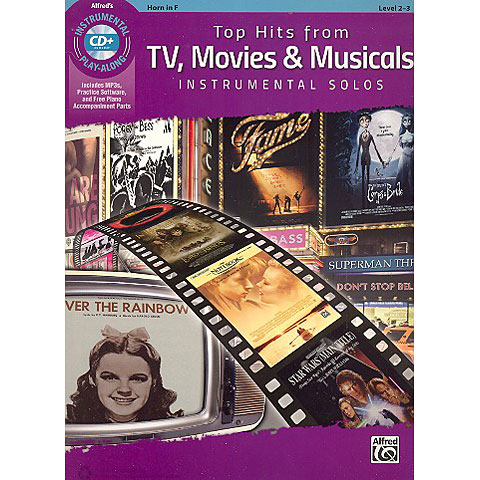 Play-Along Alfred KDM Top hits from TV, Movies and Musicals for horn