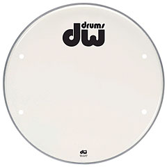 "DW 20"" Smooth White Vented « Peau de grosse caisse"