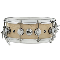 "DW Super Sonic 14"" x 5,5"" Natural Satin Oil Solid Snare Drum « Snare"