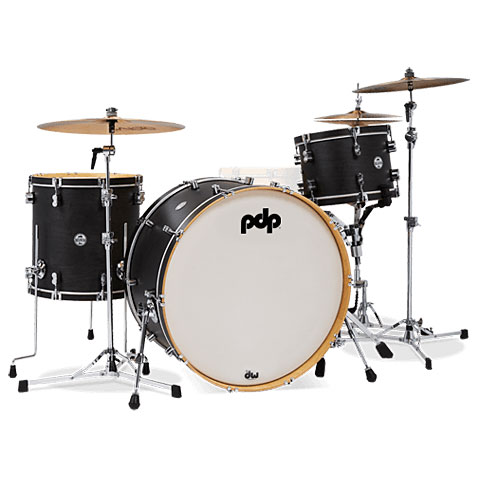 "Batterie acoustique pdp Concept Classic 24"" Ebony Drumset with Wood Hoops"