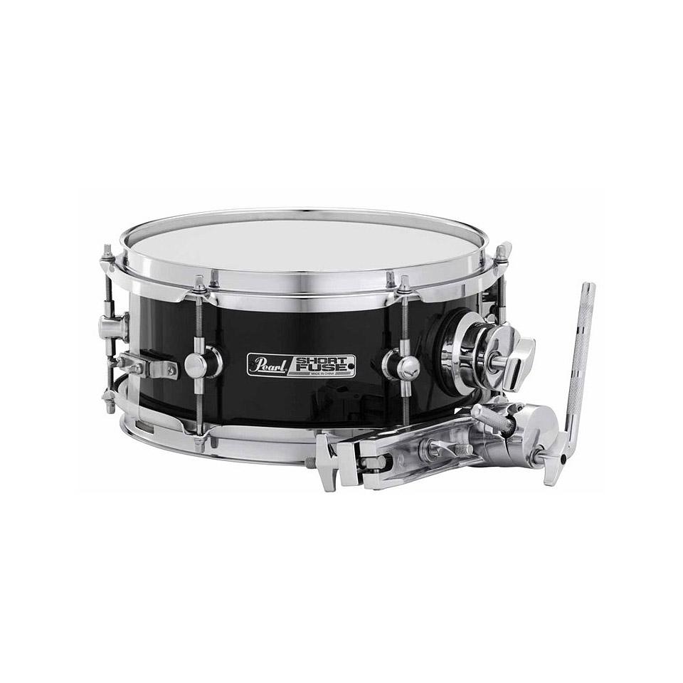 pearl short fuse 10 x 4 5 effect snare drum jet black snare drum. Black Bedroom Furniture Sets. Home Design Ideas