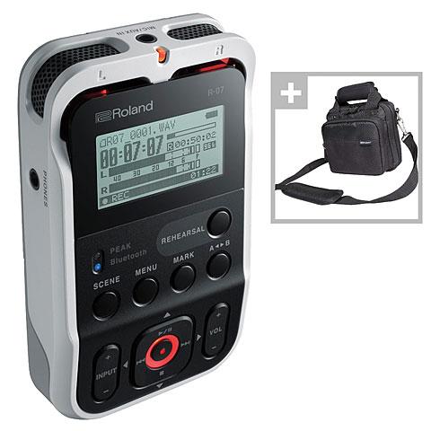 Digital Recorder Roland R-07 WH Bag Bundle