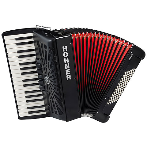 Piano Accordion Hohner Bravo III 72 Black silent key