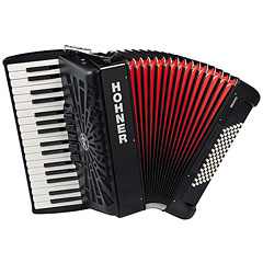 Hohner Bravo III 72 Black silent key « Accordéon à touches