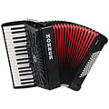Hohner Bravo III 72 Black silent key « Toetsen Accordeon