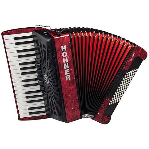 Piano Accordion Hohner Bravo III 72 Red silent key