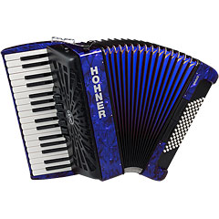 Hohner Bravo III 72 Blue silent key « Accordéon à touches