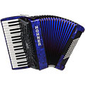 Hohner Bravo III 72 Blue silent key « Toetsen Accordeon