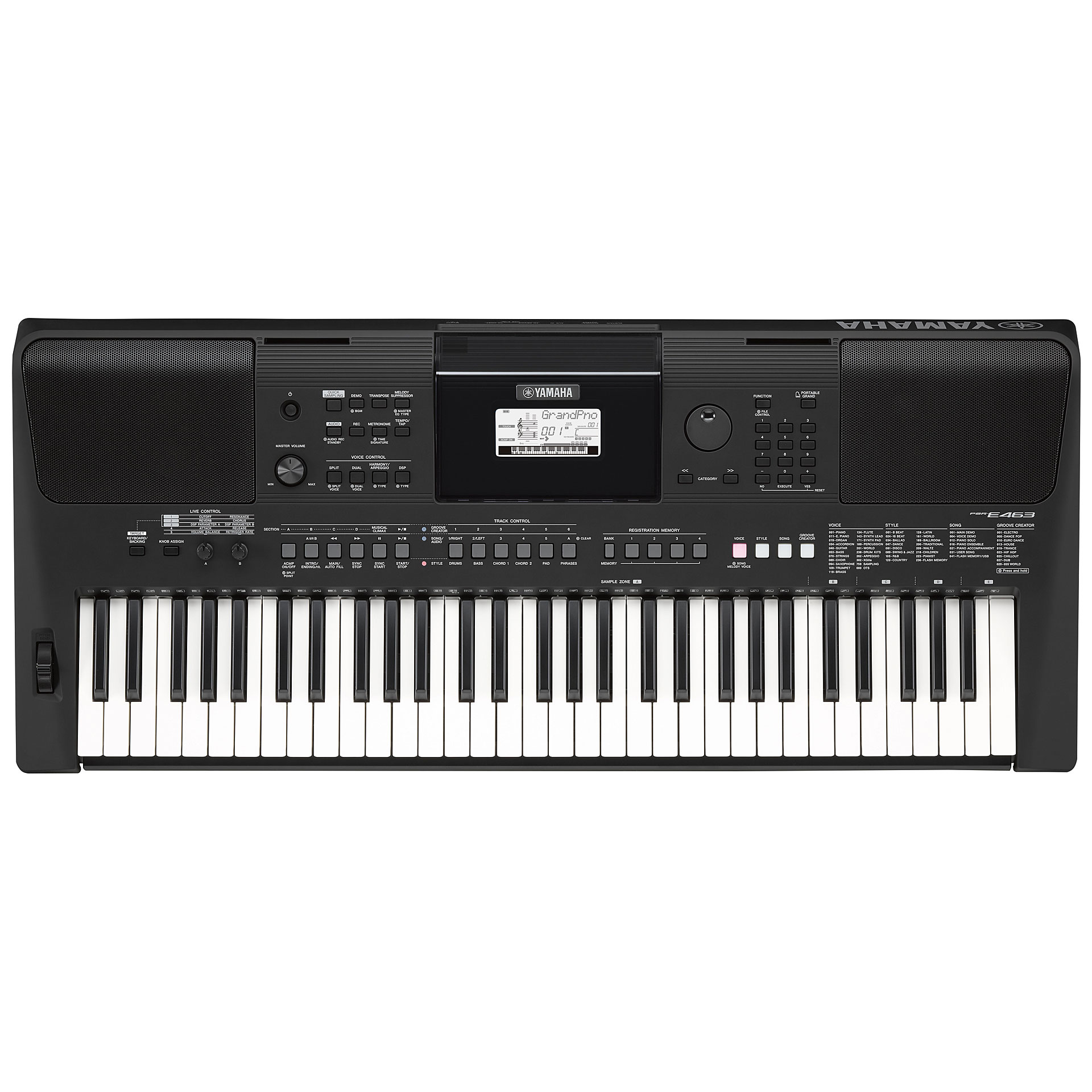 yamaha psr e463 keyboard. Black Bedroom Furniture Sets. Home Design Ideas