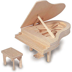 Quay QUAY Woodcraft Construction Kit Grand Piano « Modelbouwset