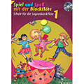Leerboek Schott Spiel und Spaß mit der Blockflöte Schule Bd.1 (+CD)