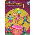 Manuel pédagogique Schott Spiel und Spaß mit der Blockflöte Schule Bd.1 (+CD)