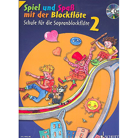 Libros didácticos Schott Spiel und Spaß mit der Blockflöte Schule Bd.2 (+CD)