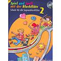 Manuel pédagogique Schott Spiel und Spaß mit der Blockflöte Schule Bd.2 (+CD)