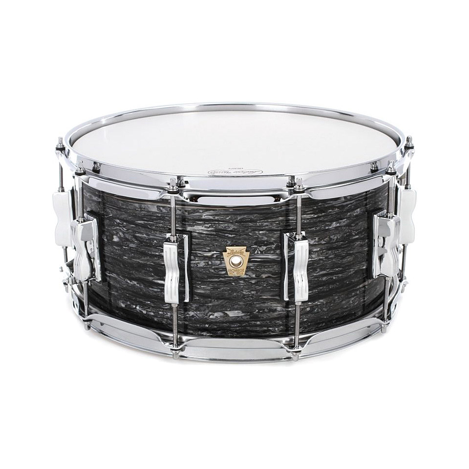 ludwig classic maple 14 x 6 5 vintage black oyster snare drum. Black Bedroom Furniture Sets. Home Design Ideas