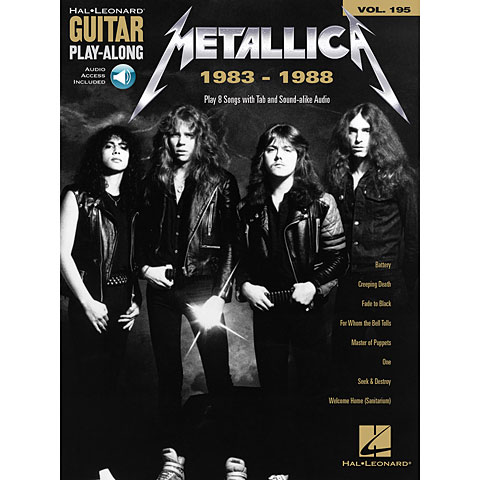 Play-Along Hal Leonard Guitar Play-Along Volume 195: Metallica 1983-1988