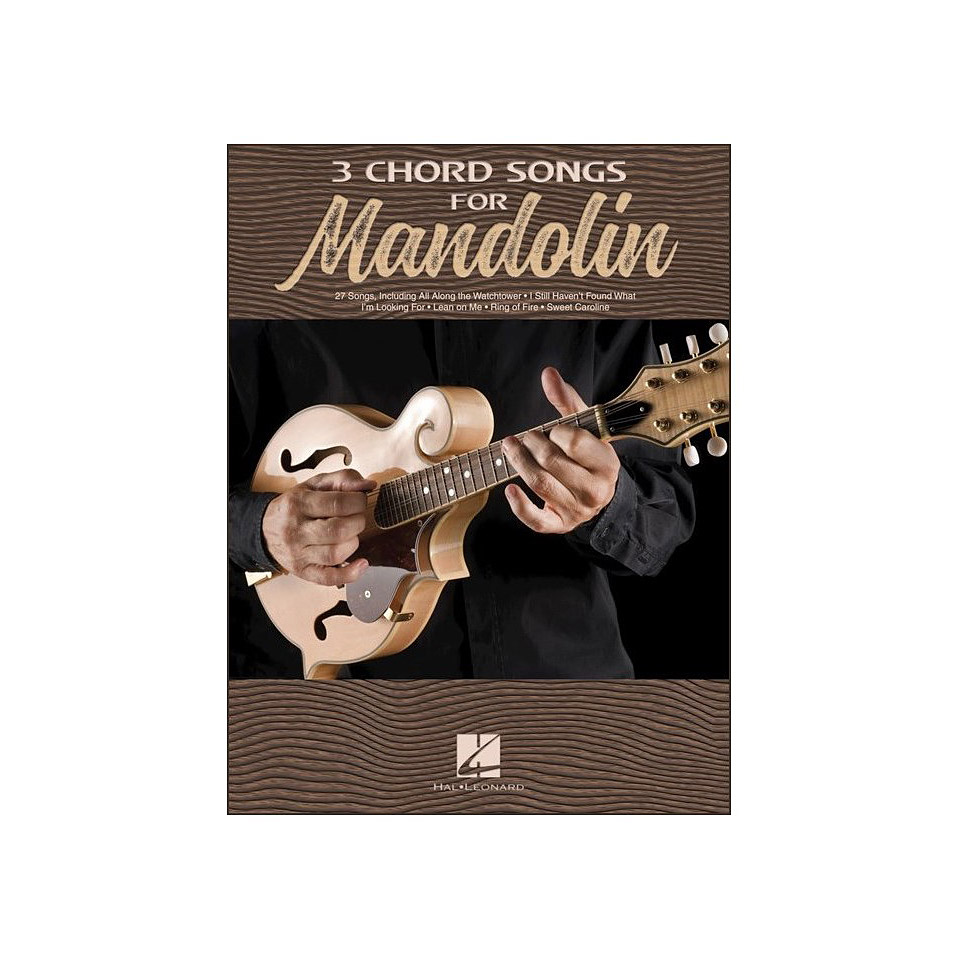 Hal Leonard 3 Chord Songs For Mandolin Songbook
