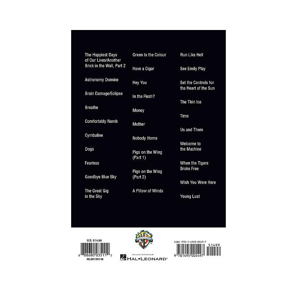 Hal Leonard Guitar Chord Songbook Pink Floyd Songbook