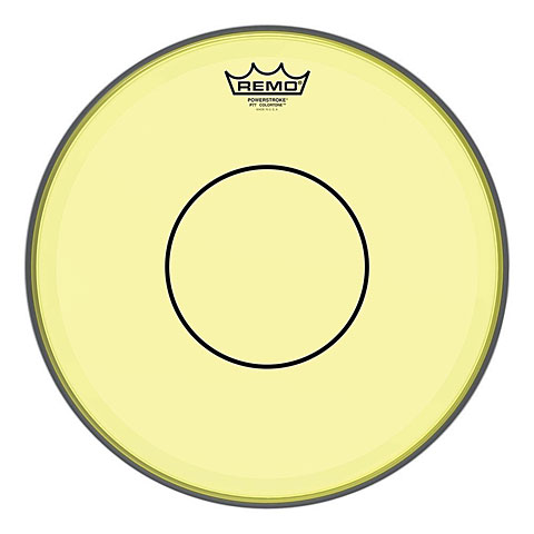 remo colortone powerstroke 77 clear 13 yellow snare head snare drum fell. Black Bedroom Furniture Sets. Home Design Ideas