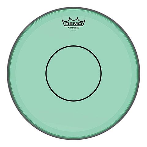 """Parches para caja Remo Colortone Powerstroke 77 Clear 13"""" Green Snare Head"""
