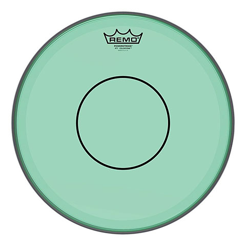 "Parches para caja Remo Colortone Powerstroke 77 Clear 14"" Green Snare Head"
