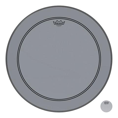 "Remo Colortone Powerstroke 3 Clear 20"" Smoke Bass Drum Head"