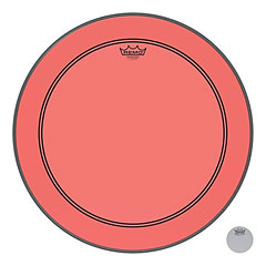 "Remo Colortone Powerstroke 3 Clear 22"" Red Bass Drum Head « Parches para bombos"