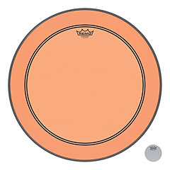 "Remo Colortone Powerstroke 3 clear 22"" Orange Bass Drum Head « Parches para bombos"