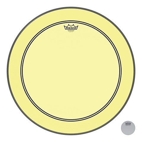 "Parches para bombos Remo Colortone Powerstroke 3 Clear 22"" Yellow Bass Drum Head"