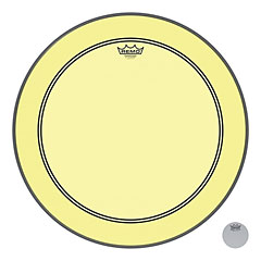 "Remo Colortone Powerstroke 3 Clear 22"" Yellow Bass Drum Head"
