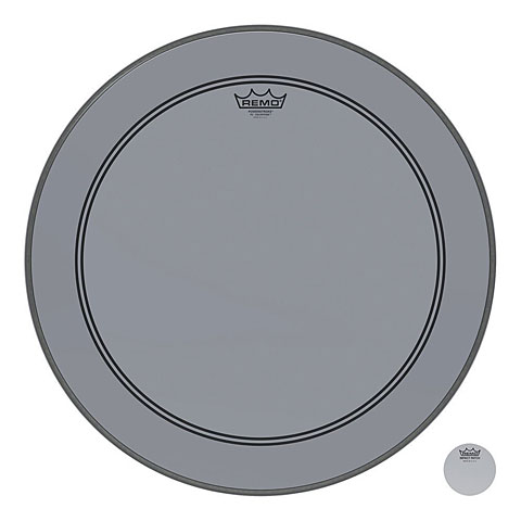 "Bass-Drum-Fell Remo Colortone Powerstroke 3 Clear 22"" Smoke Bass Drum Head"