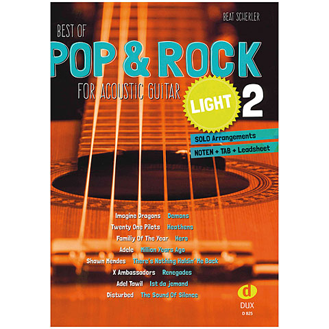 Libro de partituras Dux Best of Pop & Rock for Acoustic Guitar light 2