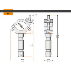 Global Truss Half Coupler Spigot 48-51/50/500kg