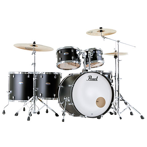 "Pearl Decade Maple 22"" Satin Slate Black Drumset"