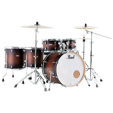 "Pearl Decade Maple 22"" Satin Brown Burst Drumset"