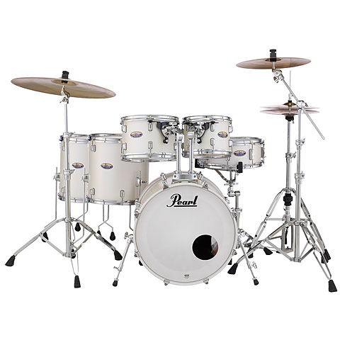 "Pearl Decade Maple 22"" White Satin Pearl Drumset"