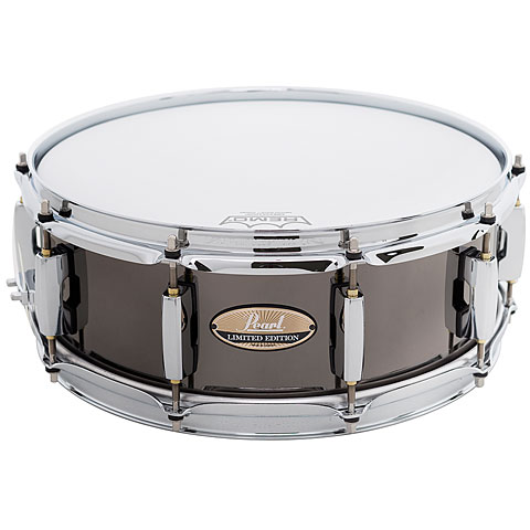 """Snare Drum Pearl 14"""" x 5"""" Black Nickel Limited Edition Steel Snare"""
