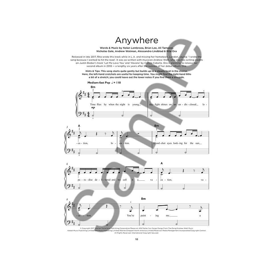 Music Sales Really Easy Piano - Chart Hits #6 Spring/Summer - 20 Chart Hits