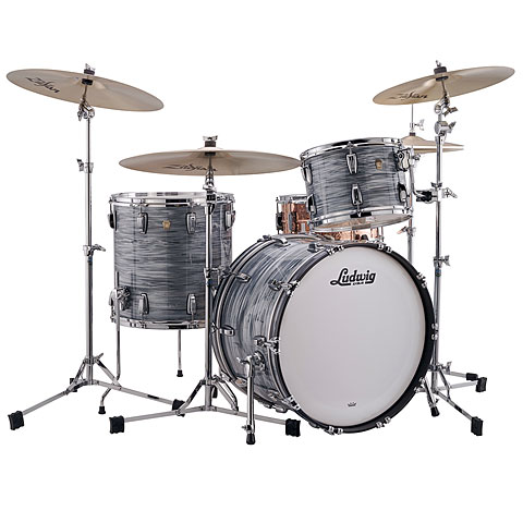 Batterie acoustique Ludwig Classic Maple Fab Four Vintage Blue Oyster