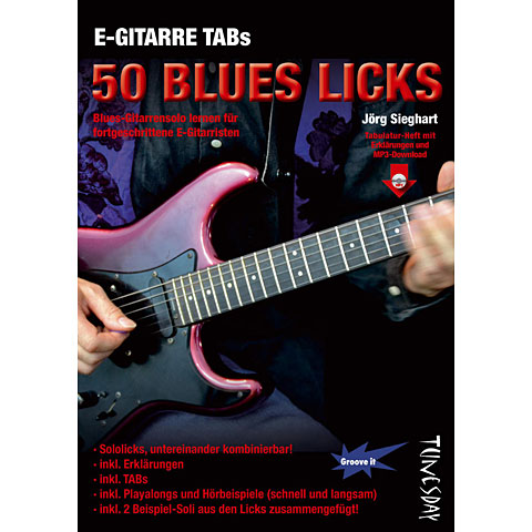 Manuel pédagogique Tunesday E-Gitarre Training - 50 Blues Licks (Heft + MP3-D)
