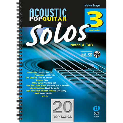 Libro de partituras Dux Acoustic Pop Guitar Solos 3